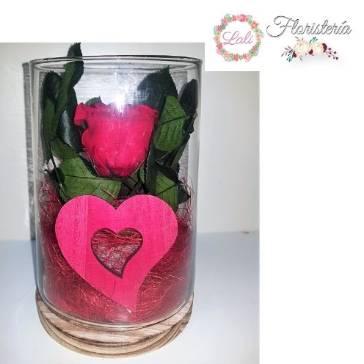 Rosa Enamorados Cristal