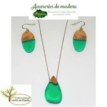 Conjunto Olivo y Resina Verde